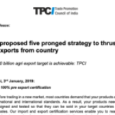 TPCI proposed five pronged strategy to thrust agri exports from country